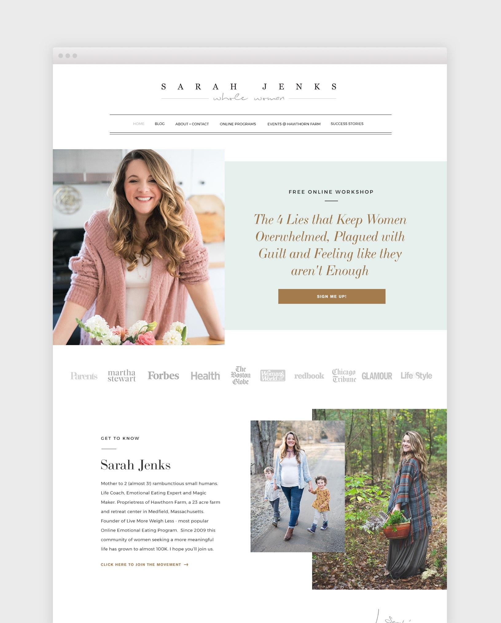 Sarah Jenks - web design