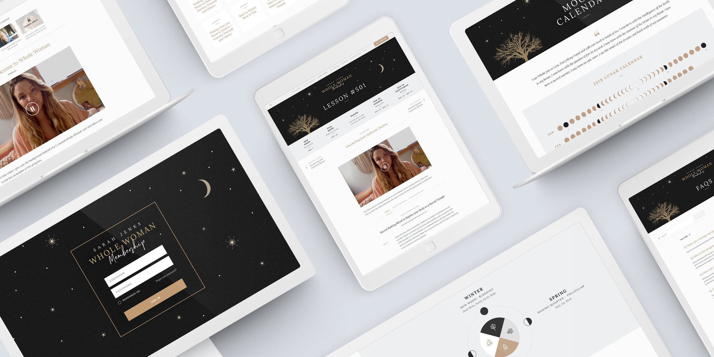 Sarah Jenks - Whole Woman Platform - branding, web design, ux design