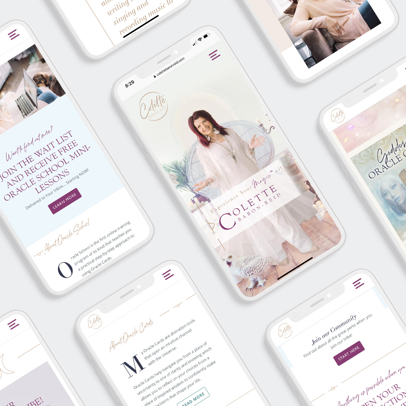 Colette Baron-Reid - Homepage Redesign