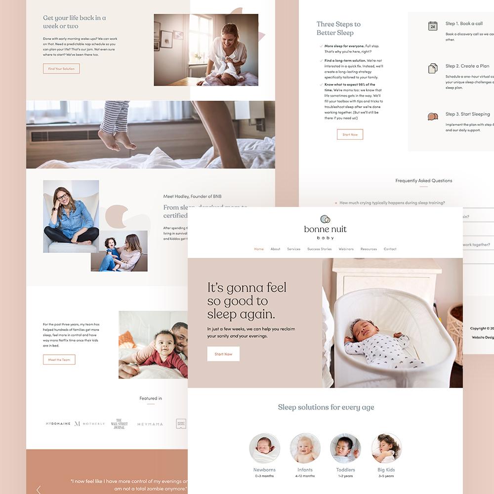 Bonne Nuit Baby - branding, web design