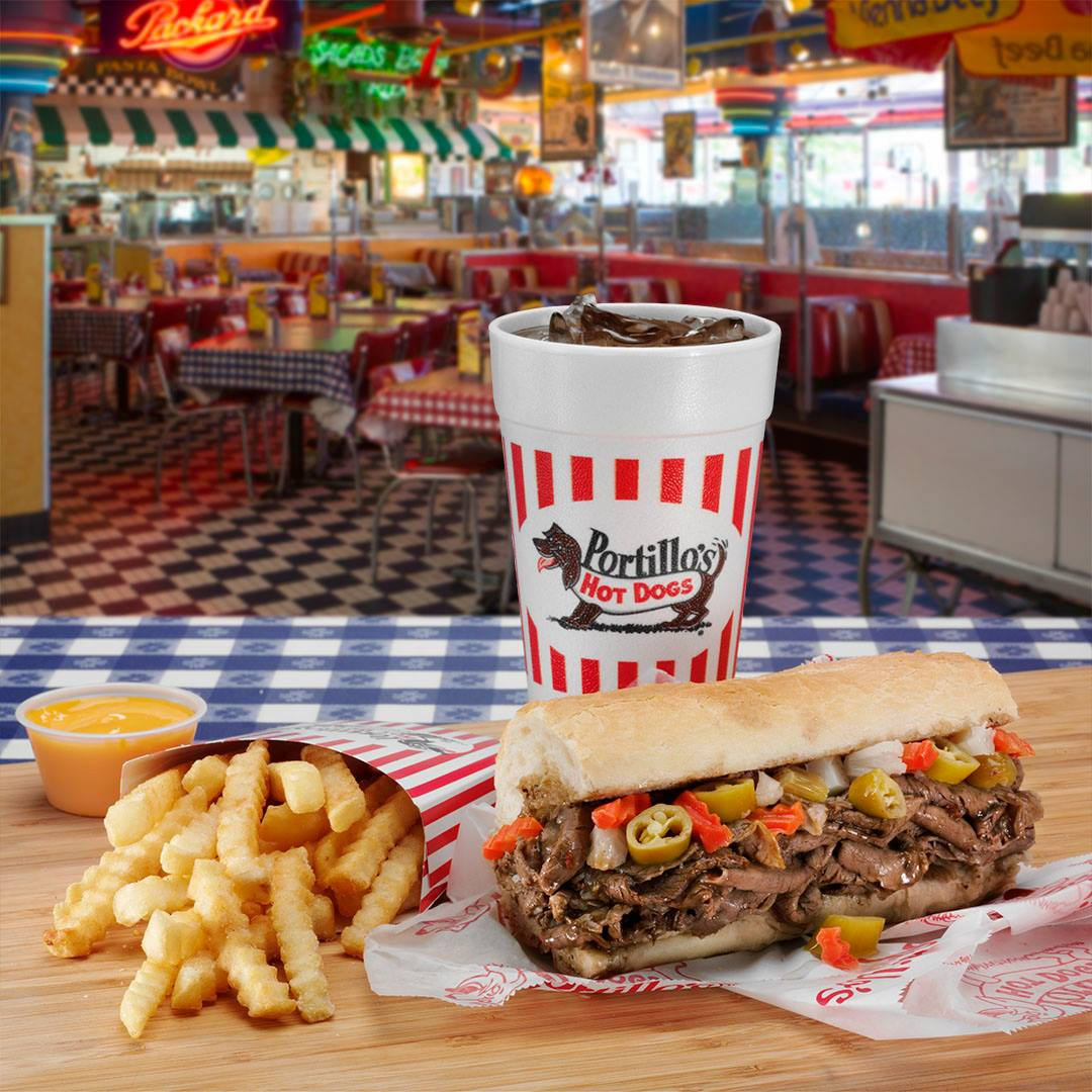 Best fast food in Chicago is hands down, an order of Portillo's Italian beef. Photo:  Facebook/Portillos .