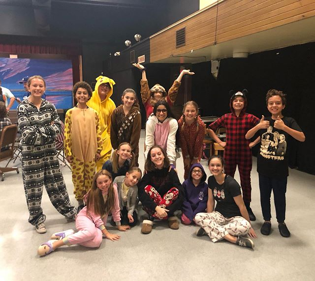 Us, Maggots had a pajama day at rehearsal tonight!📚 Come see us from Nov 2nd-Dec 8th! You won't wanna miss this one! This cast is amazing, and so much fun! You can get tickets on www.simi-arts.org right now! Link is in bio! - - #matilda #matildathemusical #ARTS #actorsrepertorytheatreofsimi  #theatre #revoltingchildren #matildapose #childrenaremaggots #musical #fun #theatrekids #broadway #mstrunchbull #pajamaday #pajamas