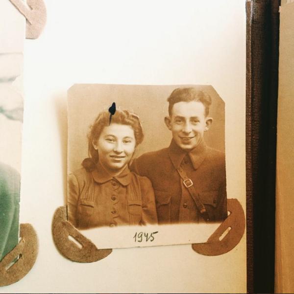 babushka luba & dedushka venya in belaurs, 1945