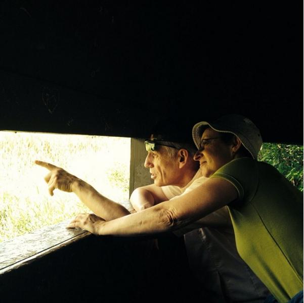 mama & papa watching birds in wisconsin, 2015