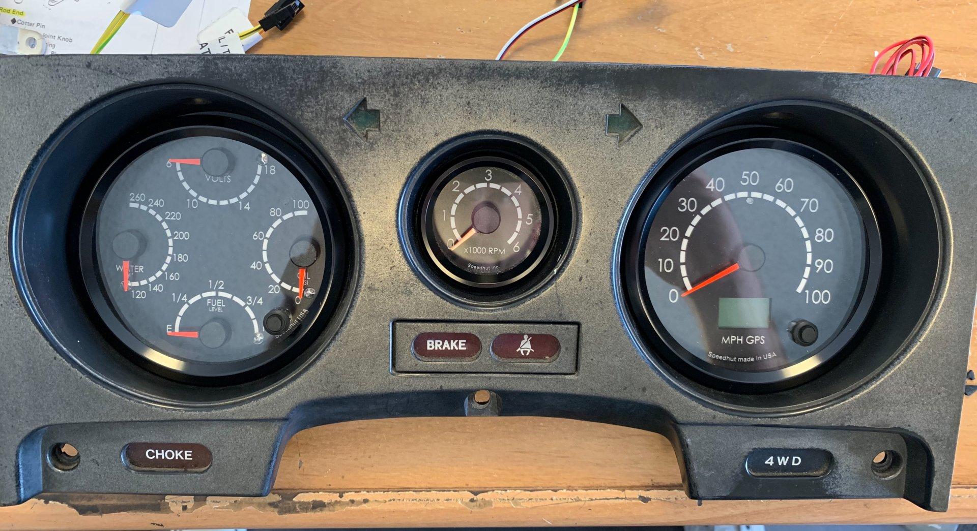 Stock Look FJ60 gauges