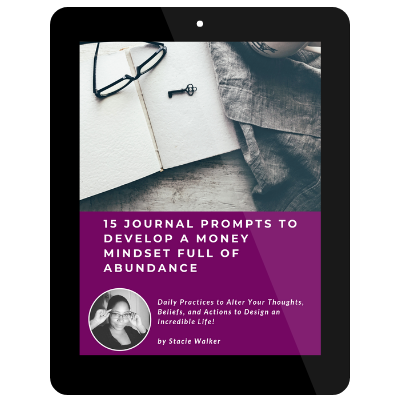 15 Journal Prompts To Develop A Money Mindset Full Of Abundance by Stacie Walker on Tablet.png