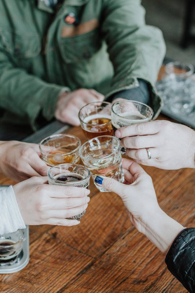 Sample the beer. - We encourage that you try our sampler for a full grasp of the different textures that we are creating at our taproom. We're always trying new profiles and have something for everyone.