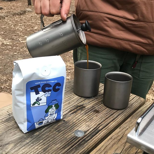 Where did you last enjoy a cup outdoors? We made it to Yosemite last weekend where we had the opportunity to brew and enjoy coffee outside. Nothing quite as satisfying as a hot cup of joe with the mountains and trees as company. :D . . . . #coffeeoutdoors #yosemite #frenchpress #snowpeak #brewoutside