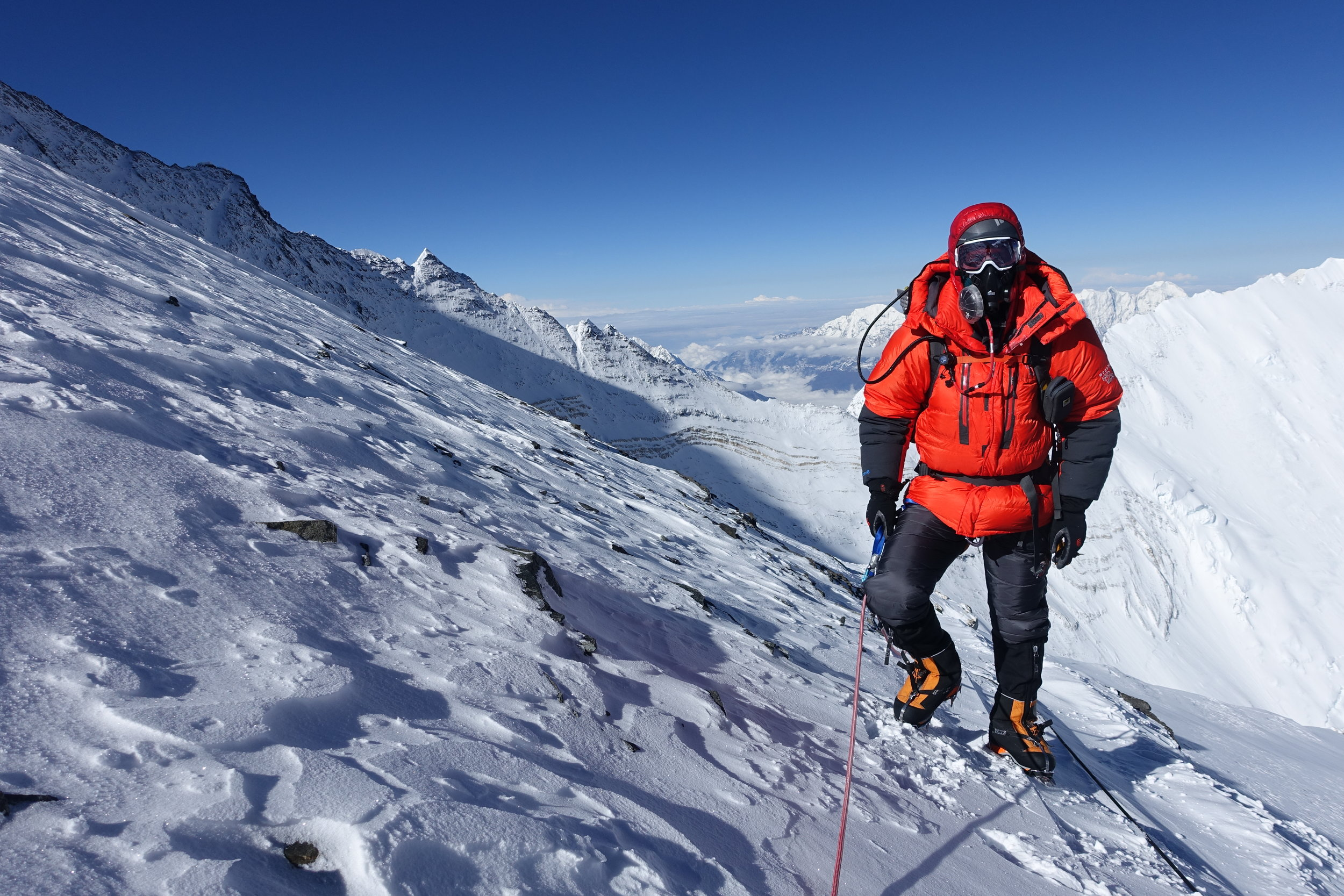 Entering the death zone at the Geneva Spur just before Camp 4 on Everest.
