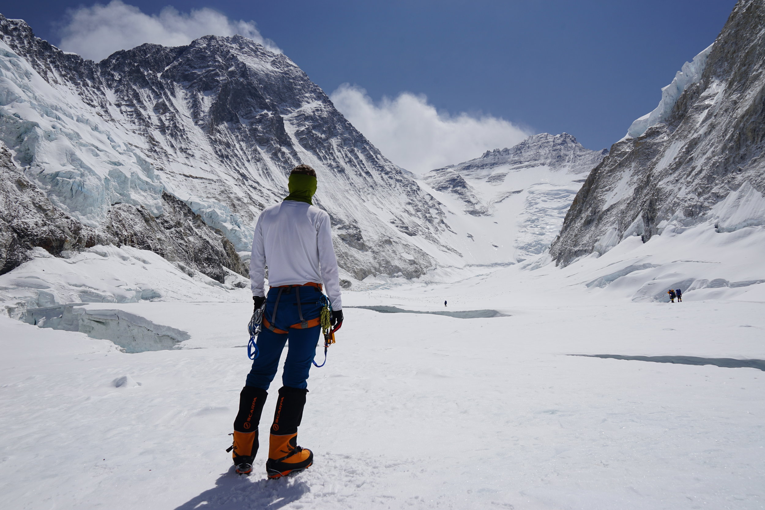 The view from Camp 2 on Everest. The daunting route to the summit looms ahead.