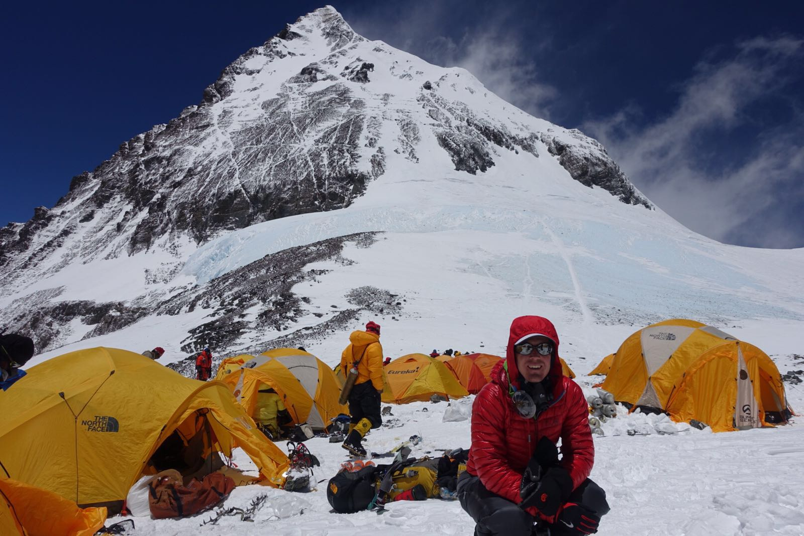 Colin at Camp 4! Ready to reach the Everest summit.
