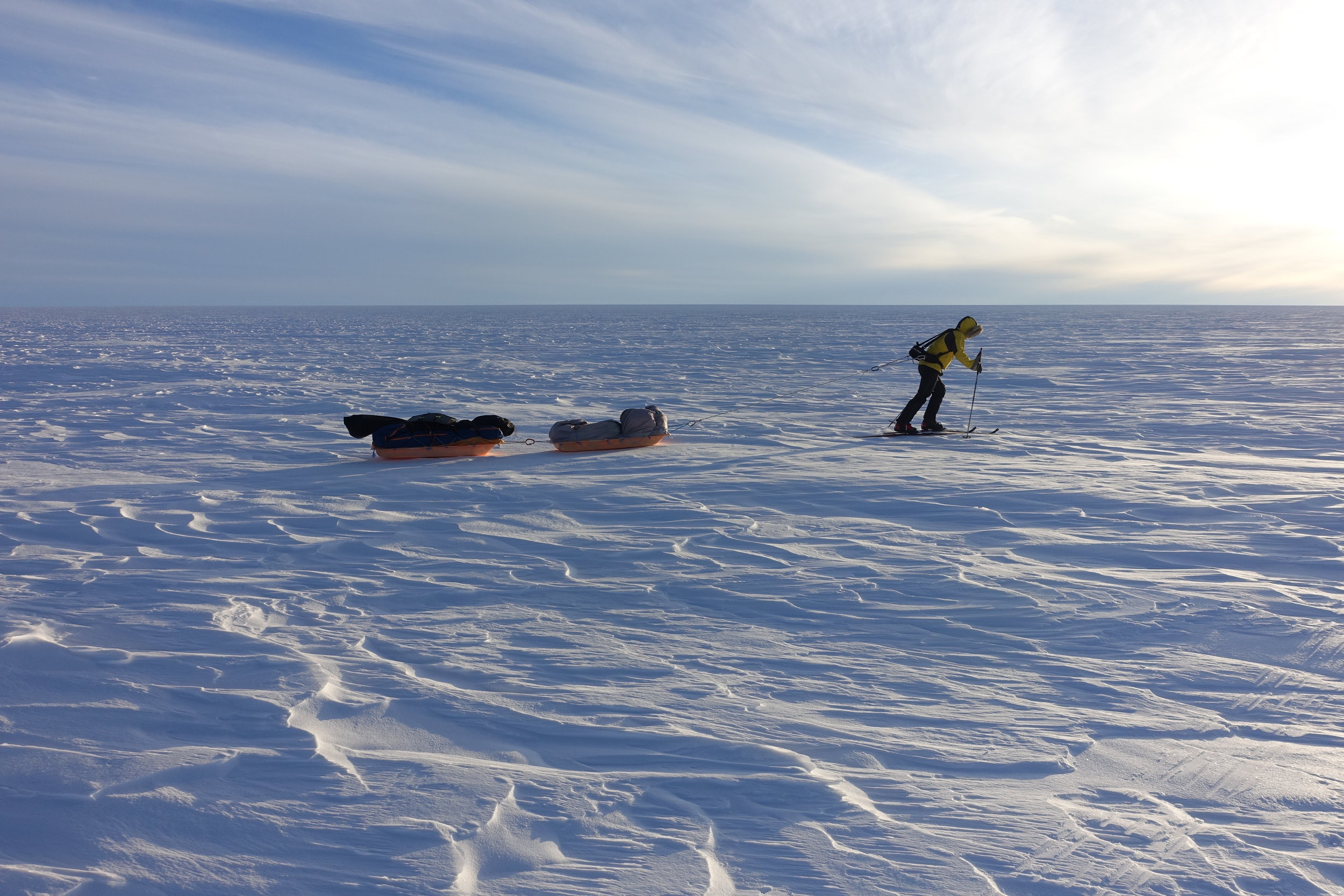 Crossing Greenland - Training for the impossible came in the form of a 400-mile human powered crossing of the Greenland Ice Sheet. Colin pulled all his supplies needed for the month long expedition - testing and fine tuning his gear and systems in preparation for Antarctica.