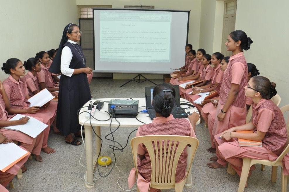 Sr. Inigo with Nursing Students - Adaiyur