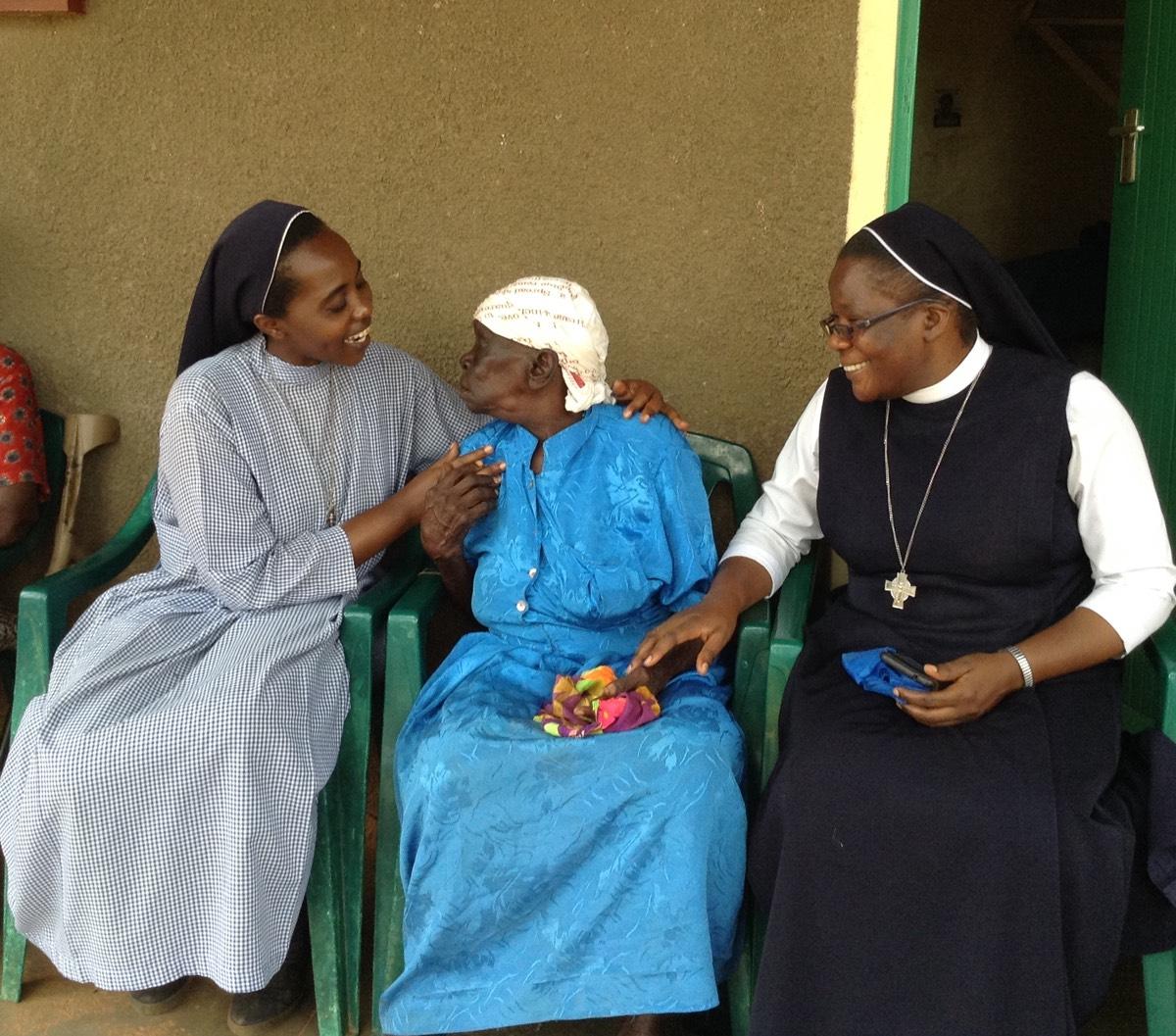Sisters with Resident at Mundika