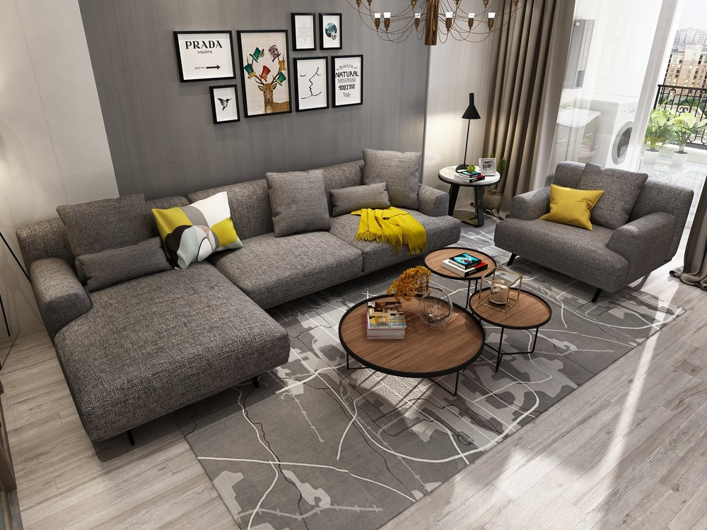 Queenshome High Quality Modern American, New Style Living Room Furniture