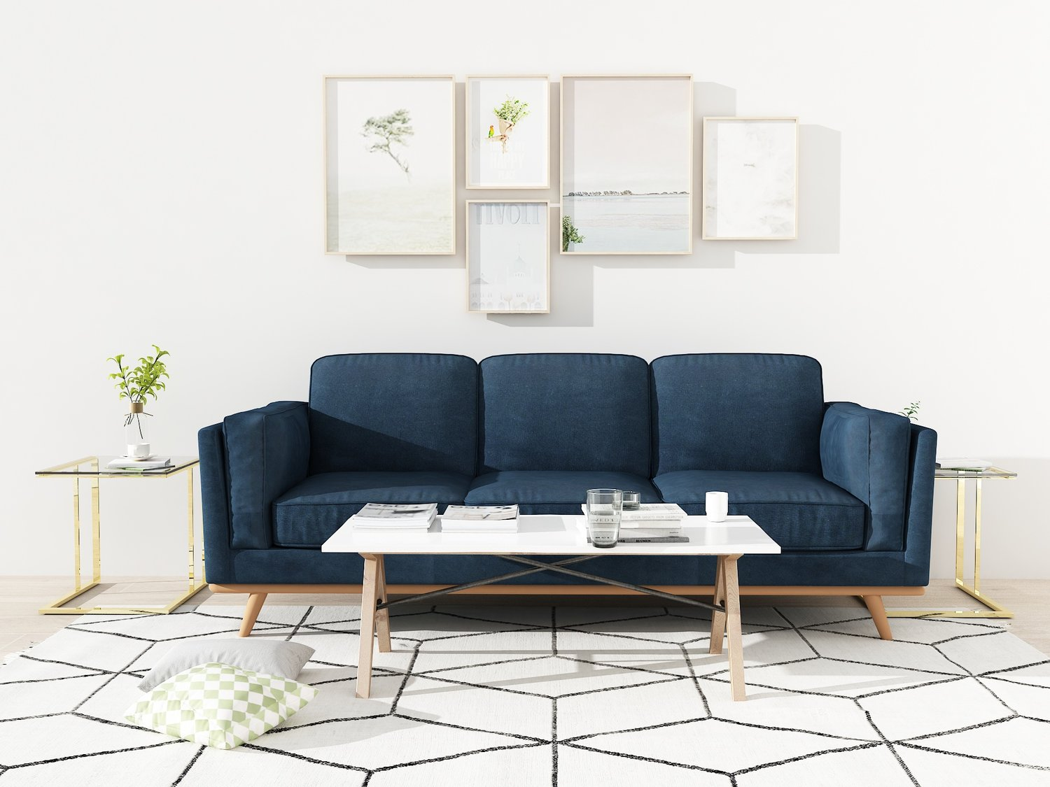 Queenshome Furnitures House Home New Style Design Muebles Minotti Living Room Flannel Fabric Recliner 3 Seater Couch Sofas Queens Home