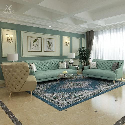 Queenshome Simple Living Room Furniture, Simple Living Furniture