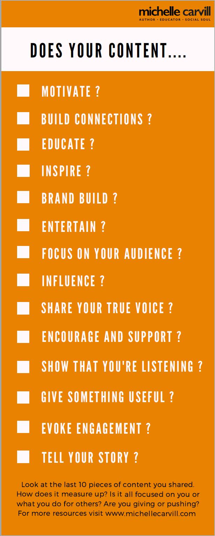 Content Checklist