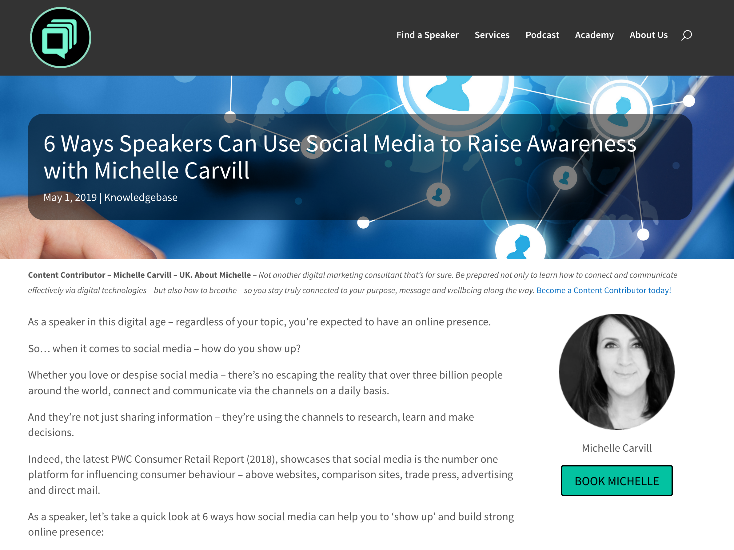6 Ways Speakers Can Use Social Media to Raise Awareness with Michelle Carvill.png