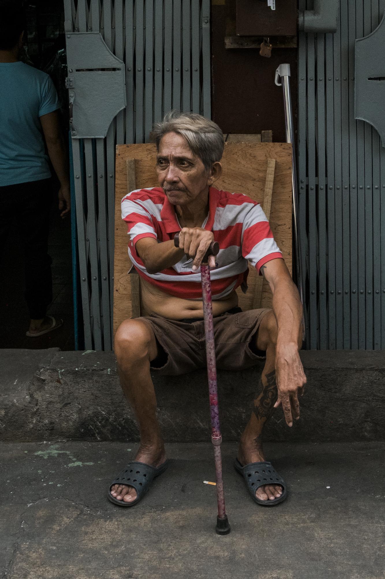 Man with Cane   Gio Panlilio, 2017