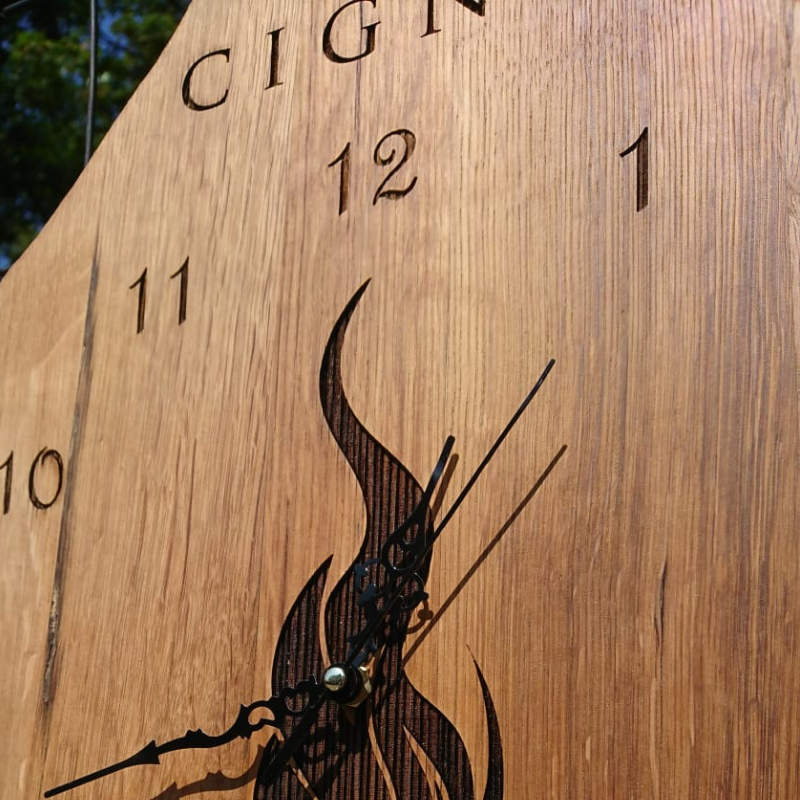 Branded clock for restaurant