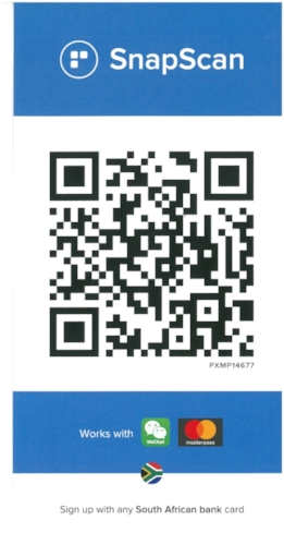 Scan the above image or, if viewing this page on your mobile device, visit:  https://pos.snapscan.io/qr/DMSC0108