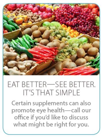 Eat better, see better!