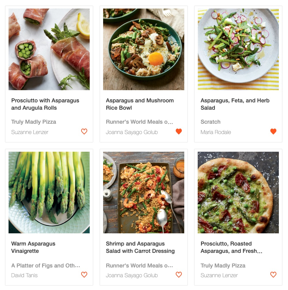"Search results for ""asparagus photo"" with smart-filters applied"