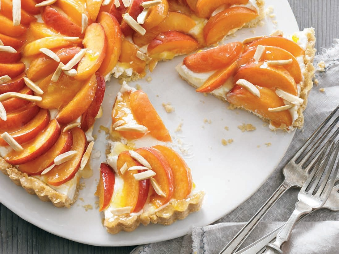 Mascarpone, Almond, and Apricot Crostata from     Cheese Obsession   by Georgeanne Brennan shared with permission by Weldon Owen.