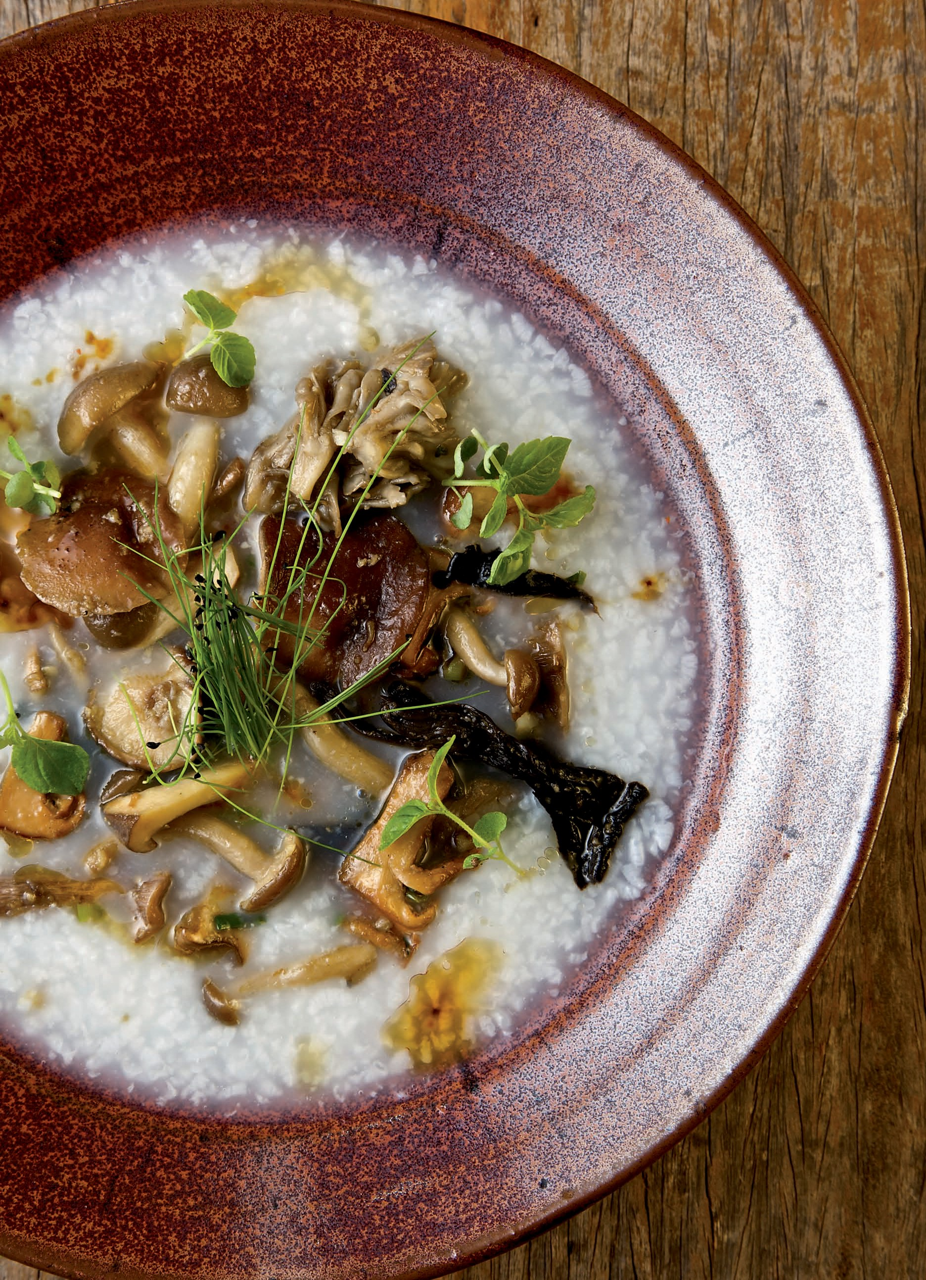 Juk with Wild Mushrooms