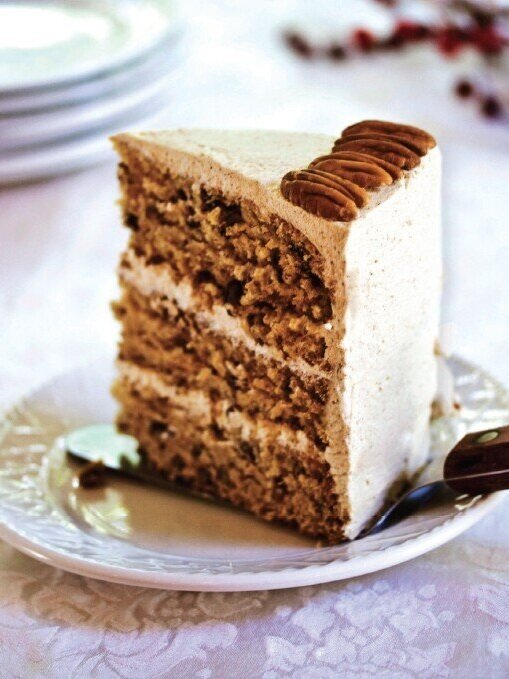 Maple-Pecan Layer Cake with Gingerbread Frosting from  Vegan Dessserts