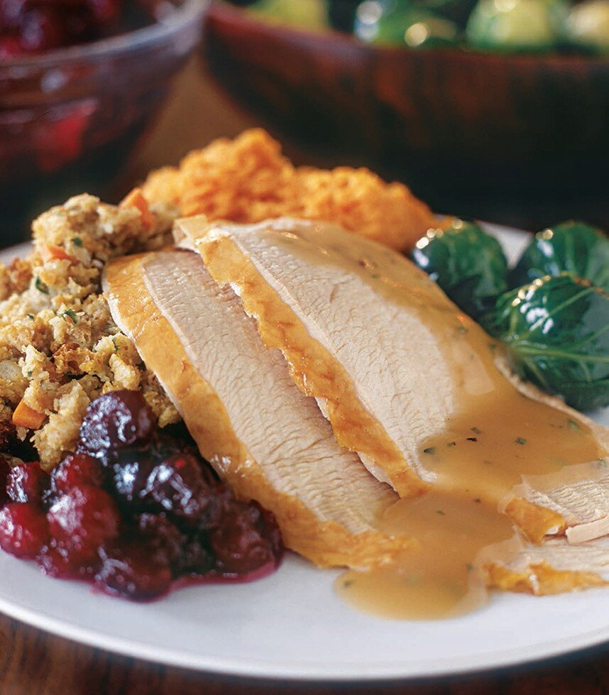 Apple-Brined Turkey Breasts from   Thanksgiving   by Lou Seibert Pappas, published by Weldon Owen