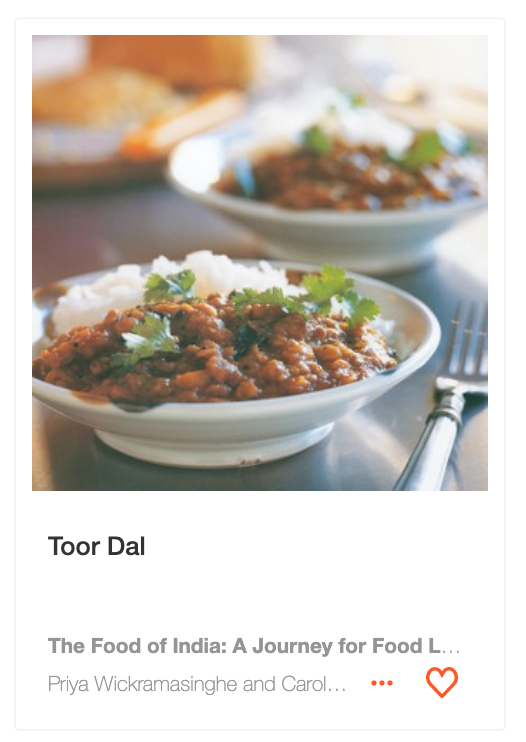 Toor Dal from The Food of India by Priya Wickramasinghe