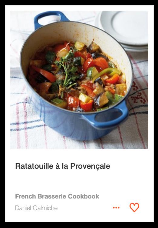 Ratatouille à la Provençale from the French Brasserie Cookbook by Daniel Galmiche