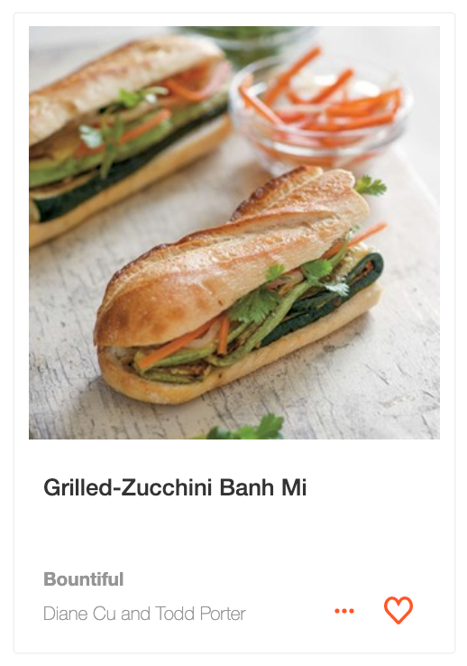 Grilled-Zucchini Banh Mi from Bountiful by Todd Porter