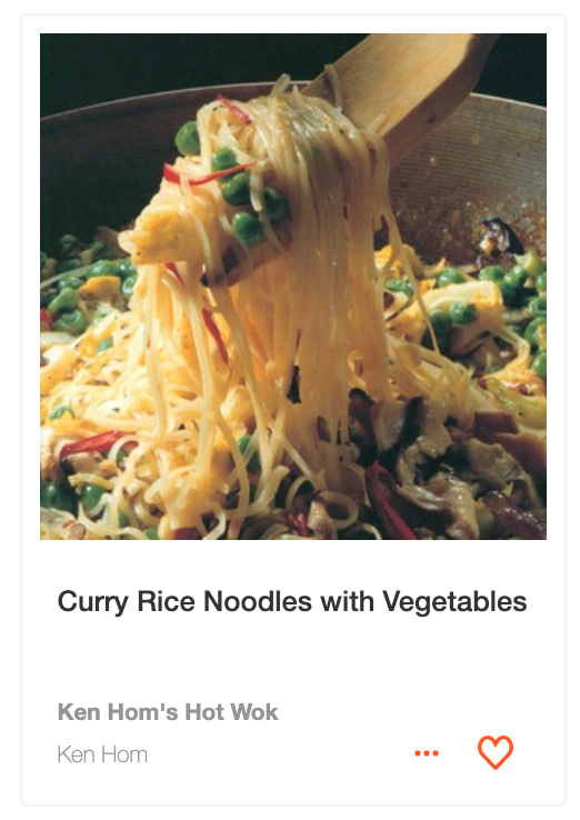 Curry Rice Noodles with Vegetables from Ken Hom's Hot Wok by Ken Him