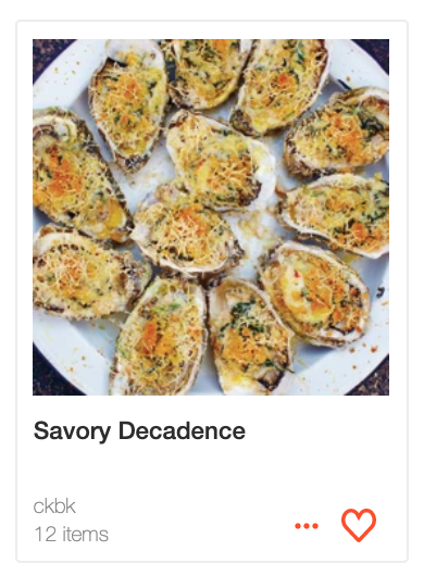 Savory Decadence: recipes for Valentine's Day