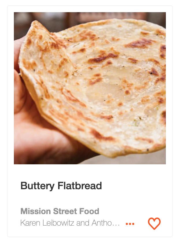 Buttery Flatbread from Mission Street Food