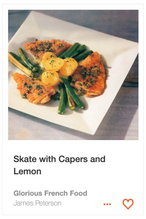 Skate with Capers and Lemon from Glorious French Food