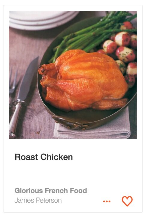 Roast Chicken from  Glorious French Food