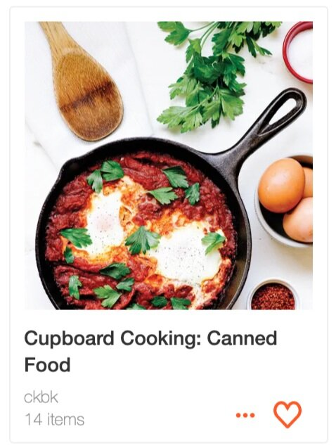 Cupboard Cooking: Canned Food recipe collection