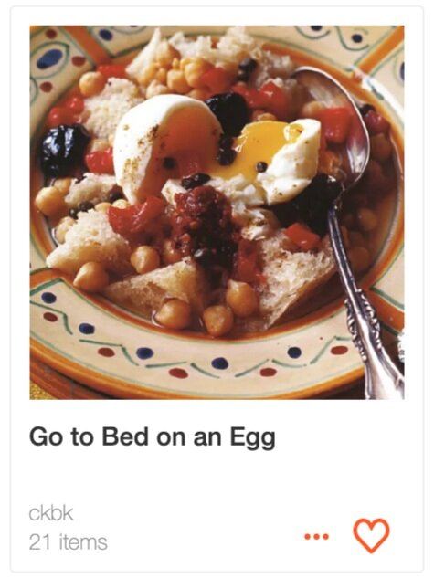 Go to Bed on an Egg recipe collection