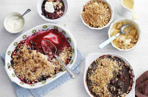 Cherry and Chocolate Crumble from The Madhouse Cookbook