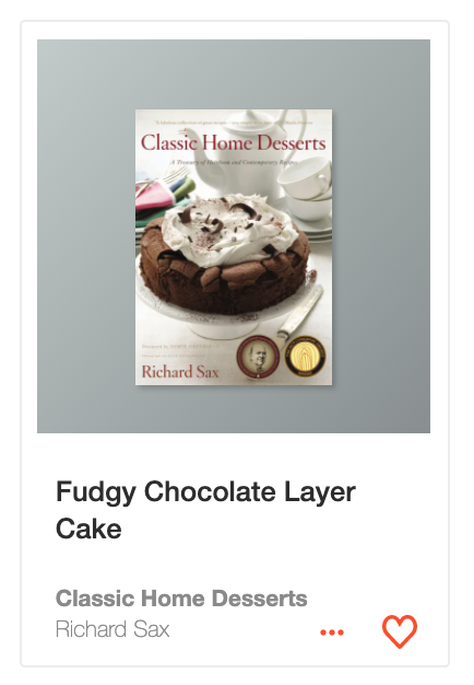 Fudgy Chocolate Layer Cake from Classic Home Desserts