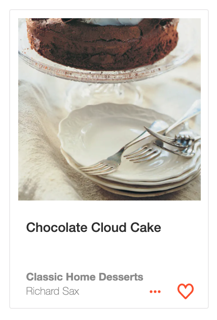 Chocolate Cloud Cake from Classic Home Desserts
