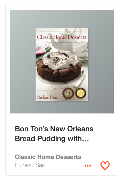 Bon Ton's New Orleans Bread Pudding with Whiskey Sauce from Classic Home Desserts