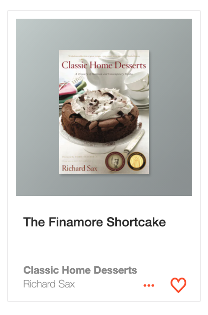 The Finamore Shortcake from Classic Home Desserts