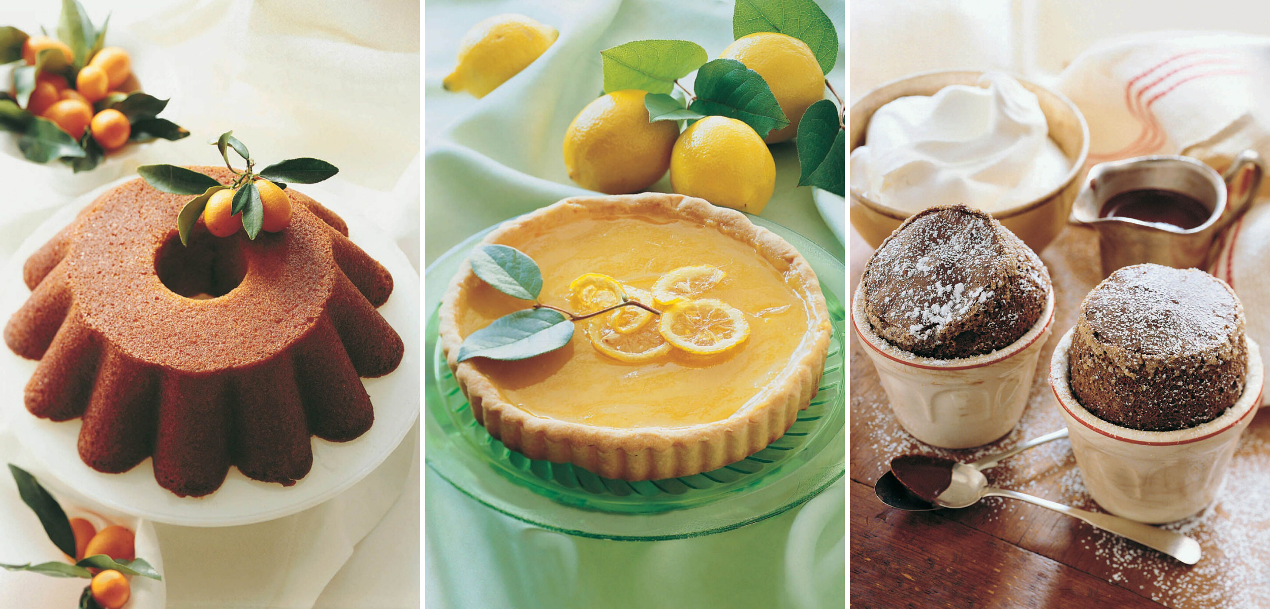 Great St. Louis Orange Ring Cake, The World's Best Lemon Tart and Edna Lewis Chocolate Soufflé from  Classic Home Desserts  by Richard Sax