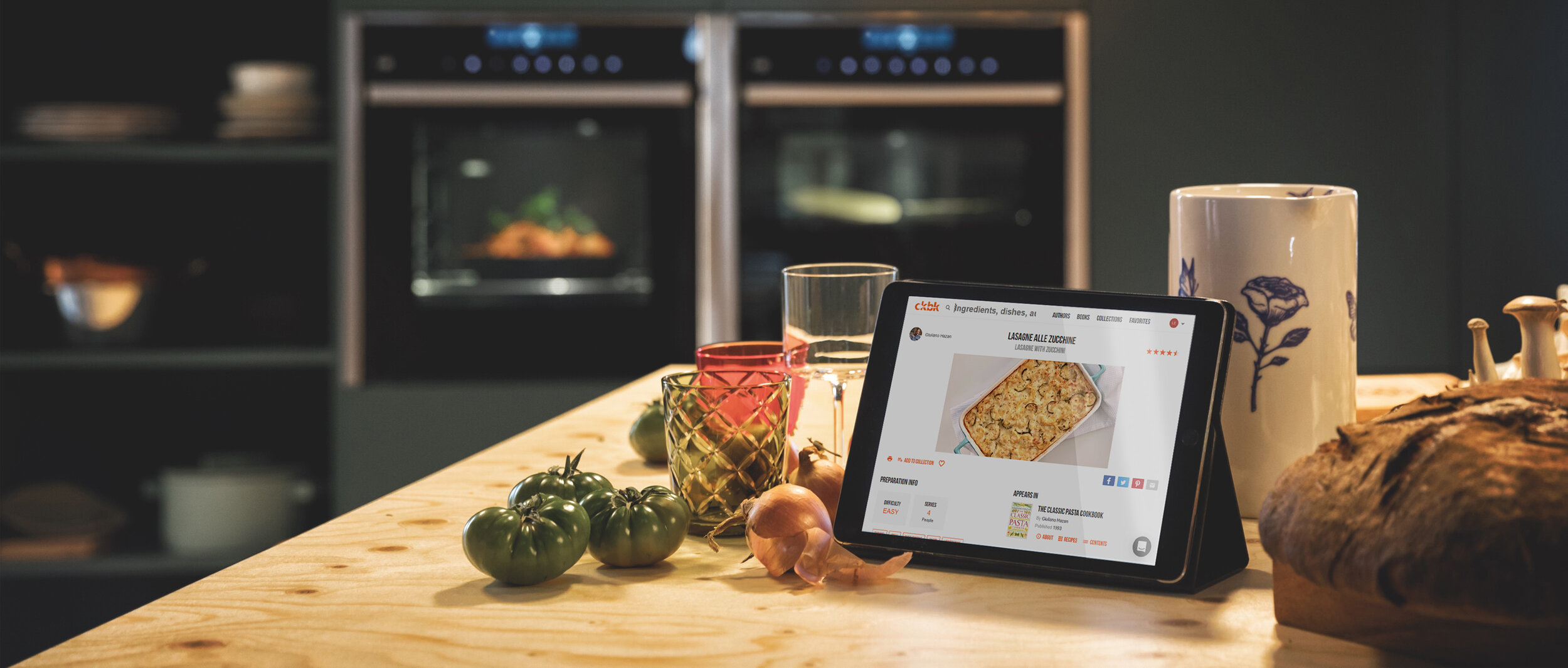 The new ckbk app is designed to link seamlessly with your new smart oven, making cooking that little bit easier.