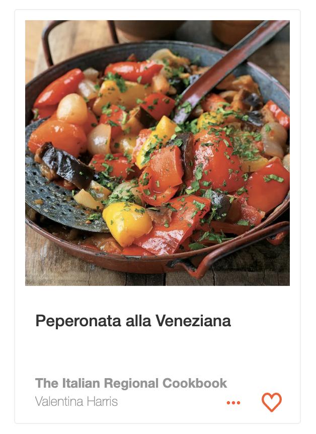 Peperonata alla Veneziana recipe